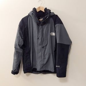 The North Face summit series grey and black jacket
